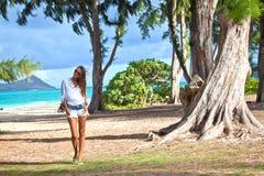 Милый турист молодой женщины Стоковое Изображение RF
