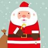 Милый тучный большой Санта Клаус Стоковое Изображение