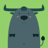 Милый тучный большой тайский буйвол Стоковые Изображения
