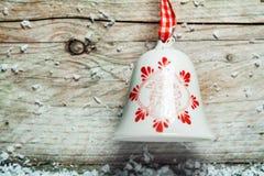 Милый украшенный колокол рождества Стоковое Изображение RF