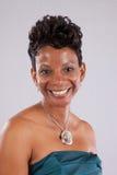 Милый усмехаться чернокожей женщины Стоковые Изображения