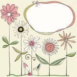 Милый флористический дизайн Стоковая Фотография
