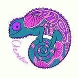 Милый хамелеон Стоковые Фото