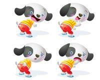 Милый характер собаки Стоковое фото RF