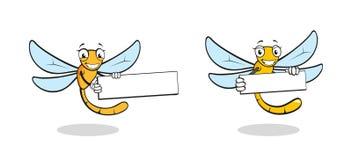Милый характер dragonfly шаржа Стоковое Изображение