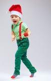 Милый хелпер santa на белизне Стоковое Изображение RF