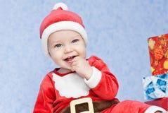 Милый хелпер santa ребёнка Стоковое Фото