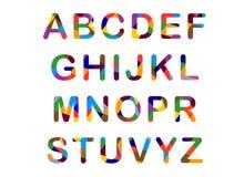 Милый цвета конфет алфавит Стоковое Изображение RF