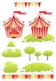 Милый цирк выставки шатра вектора шаржа бесплатная иллюстрация