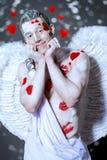 Милый человек ангела Стоковые Фотографии RF