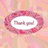 Милый шаблон карточки в ярких цветах Стильный романтичный шаблон карточки при рамка сделанная красочного doodle Стоковые Фото