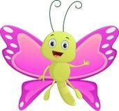 Милый шарж бабочки Стоковые Фото