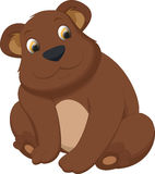 Милый шарж бурого медведя Стоковое Изображение RF