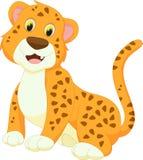 Милый шарж леопарда Стоковая Фотография