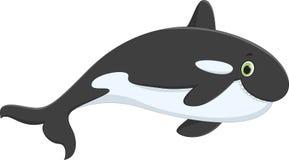 Милый шарж дельфин-касатки иллюстрация вектора