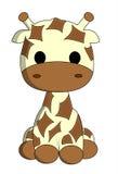 Милый шарж жирафа Стоковое Изображение
