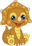 Милый шарж динозавра младенца Стоковые Изображения RF