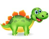 Милый шарж динозавра иллюстрация вектора