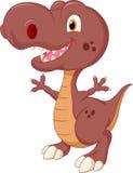 Милый шарж динозавра иллюстрация штока