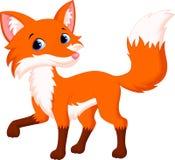 Милый шарж лисы Стоковые Фото