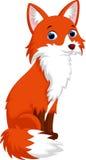 Милый шарж лисы Стоковые Изображения