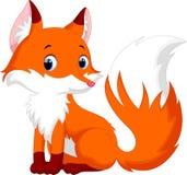 Милый шарж лисы Стоковое Изображение RF