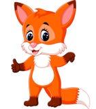 Милый шарж лисы Стоковая Фотография RF