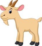 Милый шарж козы Стоковые Фото