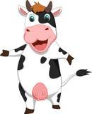 Милый шарж коровы Стоковые Изображения RF