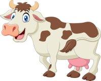 Милый шарж коровы Стоковое Изображение RF