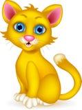 Милый шарж кота иллюстрация штока