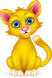 Милый шарж кота бесплатная иллюстрация