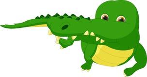 Милый шарж крокодила Стоковые Фотографии RF