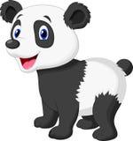 Милый шарж медведя панды иллюстрация вектора
