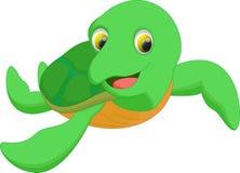 Милый шарж морской черепахи Стоковое Изображение