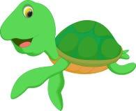 Милый шарж морской черепахи Стоковое фото RF