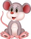 Милый шарж мыши Стоковое Фото