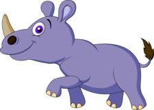 Милый шарж носорога иллюстрация вектора