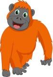 Милый шарж орангутана Стоковая Фотография