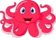 Милый шарж осьминога Стоковые Изображения