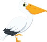 Милый шарж пеликана Стоковая Фотография