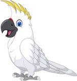 Милый шарж попугая иллюстрация вектора