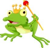 Милый шарж принца лягушки иллюстрация штока