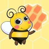 Милый шарж пчелы Стоковое Изображение