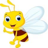 Милый шарж пчелы иллюстрация штока