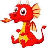Милый шарж дракона младенца Стоковое Изображение