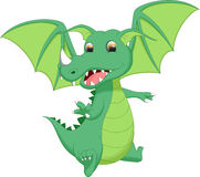 Милый шарж дракона Стоковые Фото