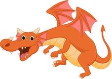 Милый шарж дракона Стоковое Изображение RF