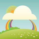 Милый шарж радуги Стоковая Фотография RF