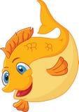 Милый шарж рыб золота Стоковые Изображения RF